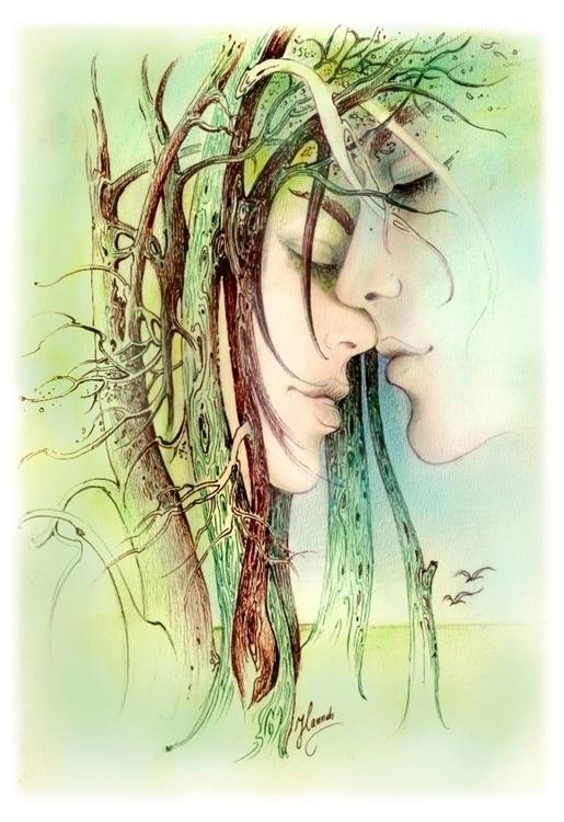 Encounter Edge Forest -drawing - annahannahart | ello