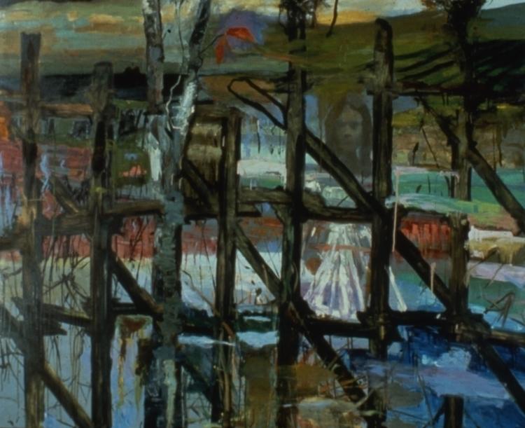 Patio Lake Mendota, Oil Canvas - bosborn | ello