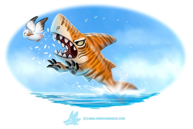 Daily Paint Tiger Shark - 1257. - piperthibodeau | ello