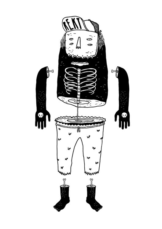REKT - illustration, characterdesign - kimbogruff | ello