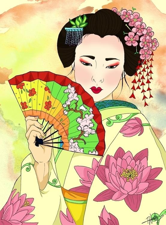 'Geisha'- pens digital Inspirat - izzywoolley | ello