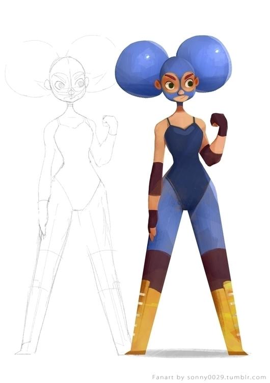 Frida - characterdesign, character - sonny-2874 | ello