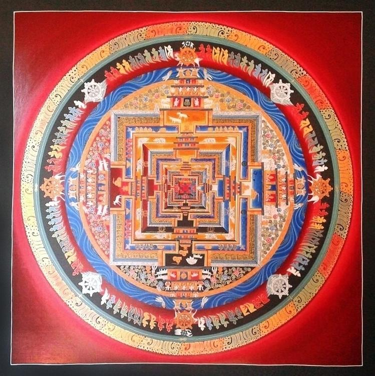 Traditional Tibetan Kalachakra  - thangka_mandala | ello
