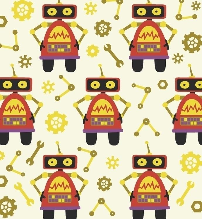 Robot Repeat 2 - repeatingpattern - acfeagan   ello