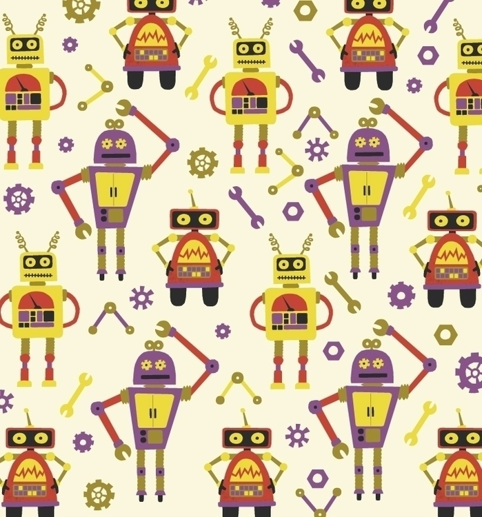 Robot Repeat 3 - repeatingpattern - acfeagan | ello