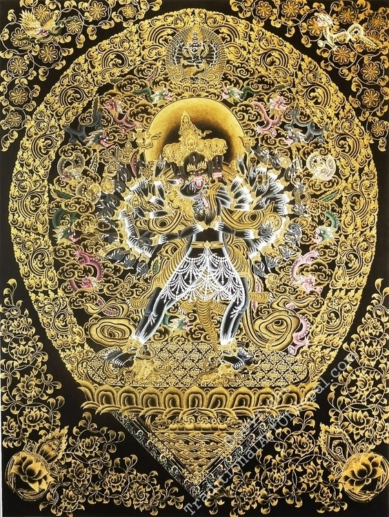 Pure Gold Thangka Painting Kala - thangka_mandala | ello