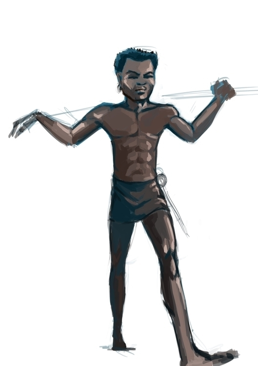 African Youth - drawing, digitalillustration - vostevoste | ello