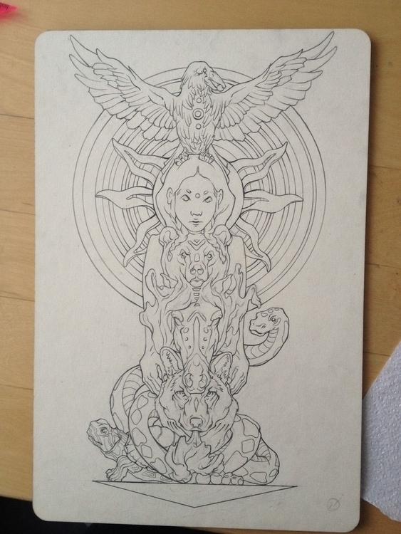 Tatto sketch - drawing - anitakhrustaleva | ello