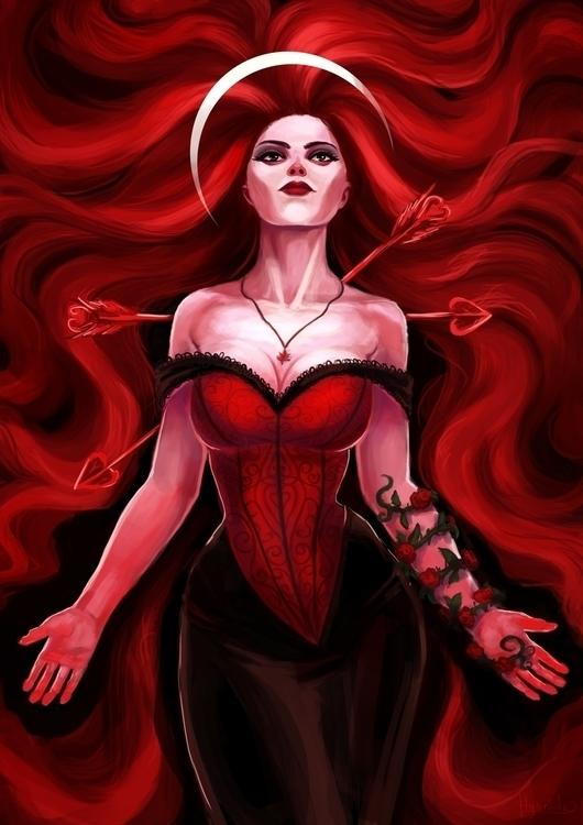 Love - illustration, characterdesign - hyanide   ello