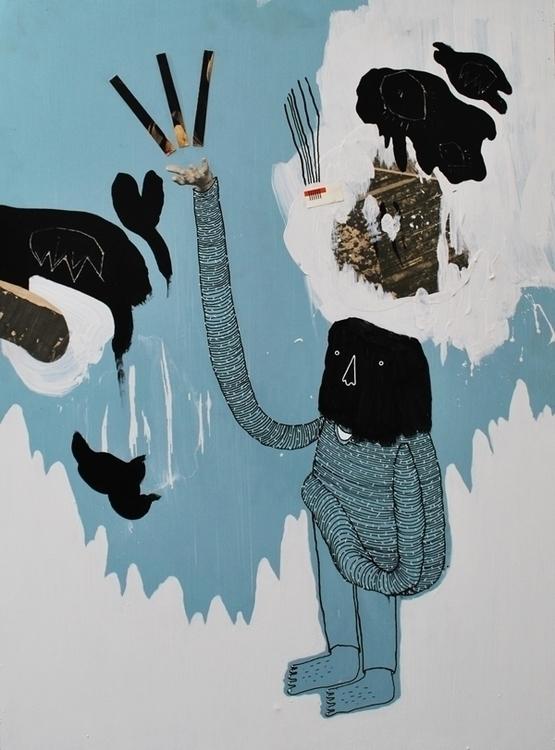 BEHOLD - painting, contemporarypainting - kimbogruff   ello