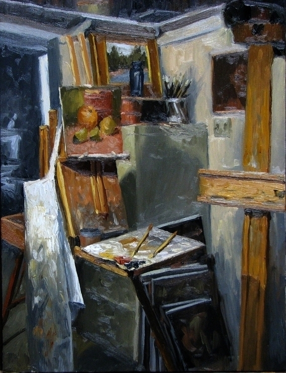 painting, interior, artistimpression - dallynzundel | ello