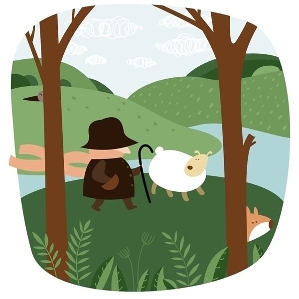 sheep man - illustration - natatulegenova   ello