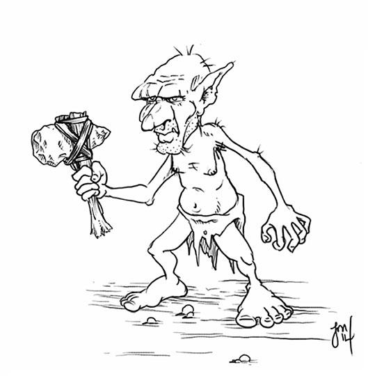 fierce goblin tribesman stares  - jasonmartin-1263 | ello