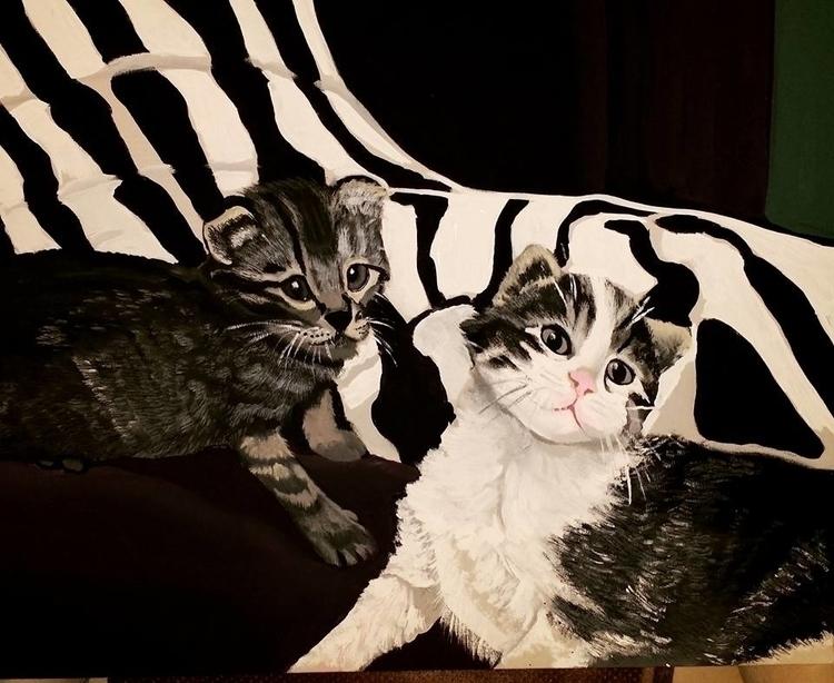 customer - cat, painting, portrait - lizzywhothefunkc | ello