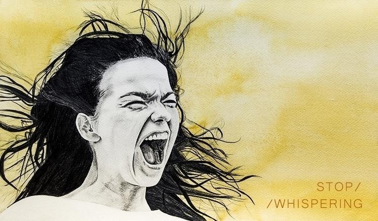 06. Stop Whispering - illustration - elenamantovan | ello