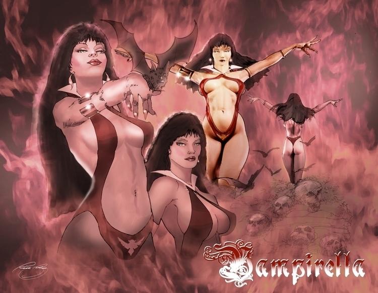 Vampire Queen - illustration, comics - rpoling | ello