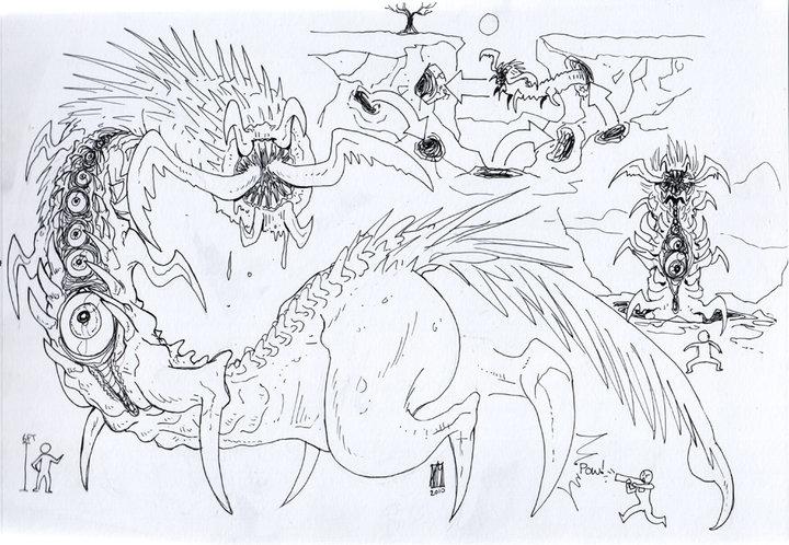 Monster design. idea tunneled c - satoleek   ello