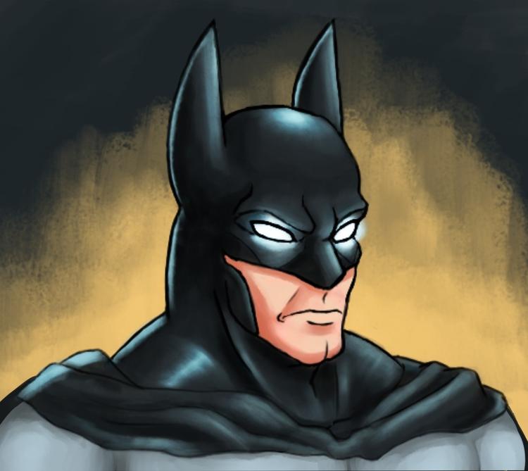 Batman - illustration, painting - alexjohnston | ello