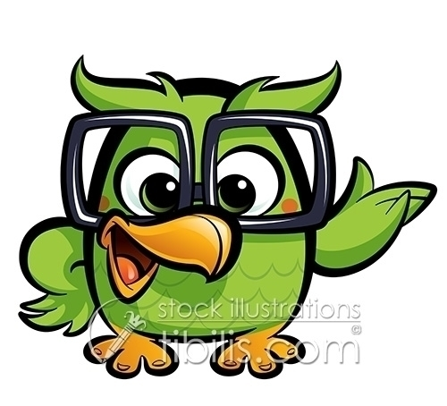 Cartoon geek owl  - cartoonanimals - thodoris-6631 | ello