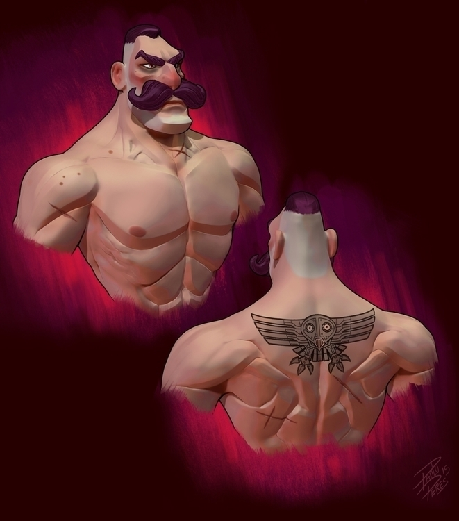 Steampunk Man Bust - characterdesign - pauloperes-1547 | ello