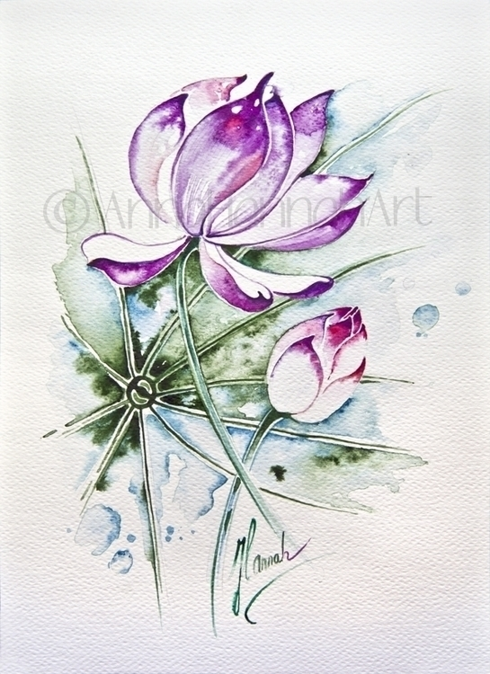 - watercolour - watercolor, painting - annahannahart | ello