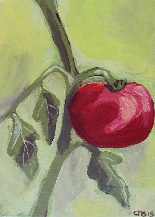 Tomato - modernfolkart, modernimpressionisticfolkart - cristinegreen | ello