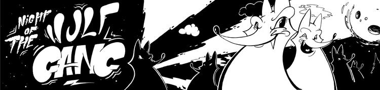 Night Wulf-Gang - illustration, wulfgang - grmjean | ello