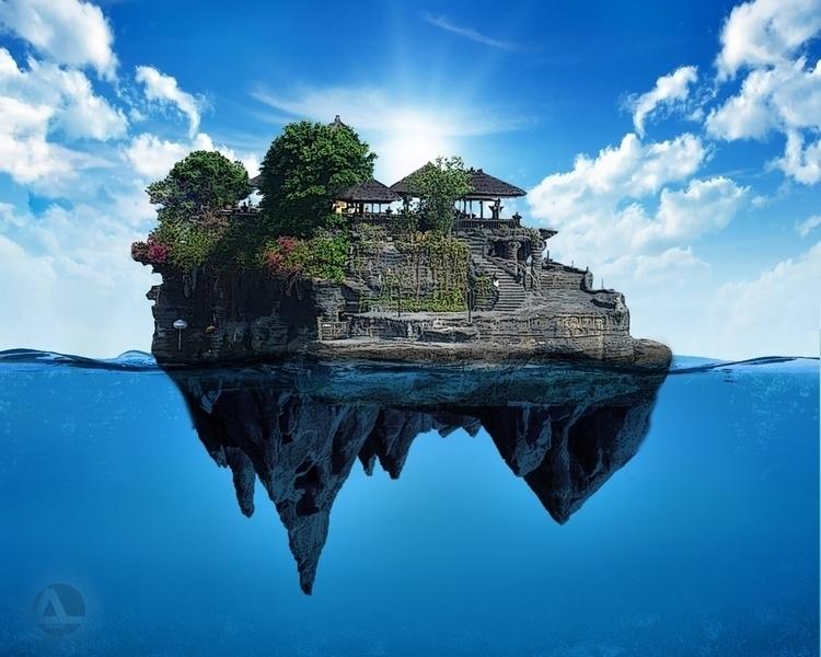 Fantasy Tanah Lot - fantasyart - aldianlo | ello