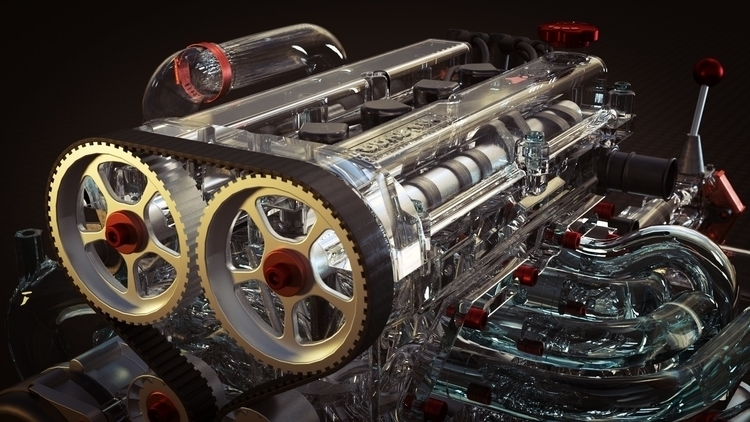Mechanical Dev - cinema4d, octanerender - phoshi | ello