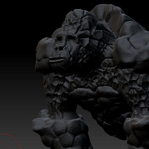 gorilla golem sculp/zbrush - illustration - aaronortiz | ello