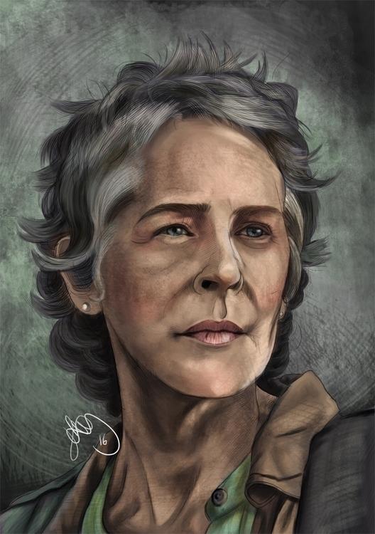Digital painting Carol Peletier - hellonsy | ello