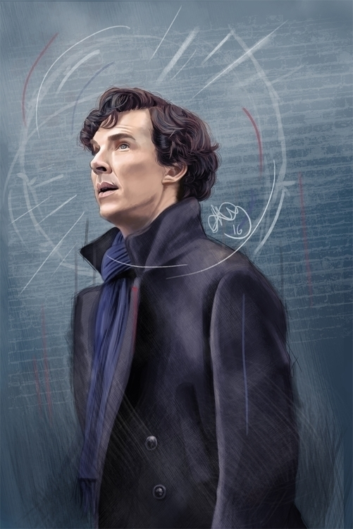 Digital painting Benedict Cumbe - hellonsy | ello
