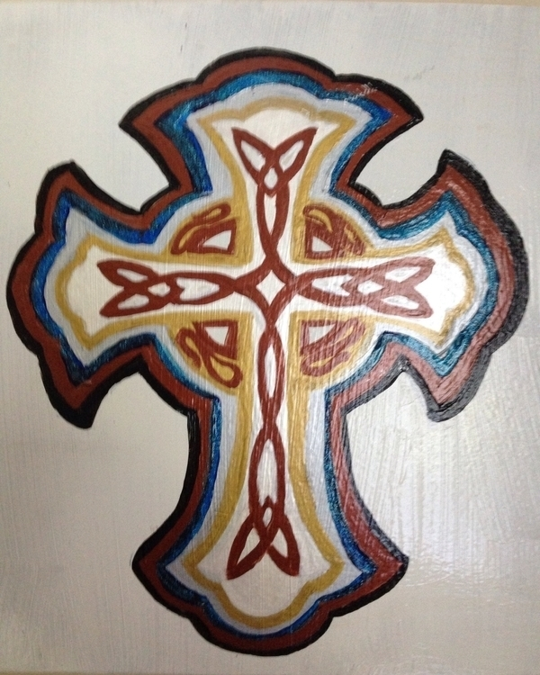 Celtic Cross - celtic, cross, acrylic - khesspowell | ello