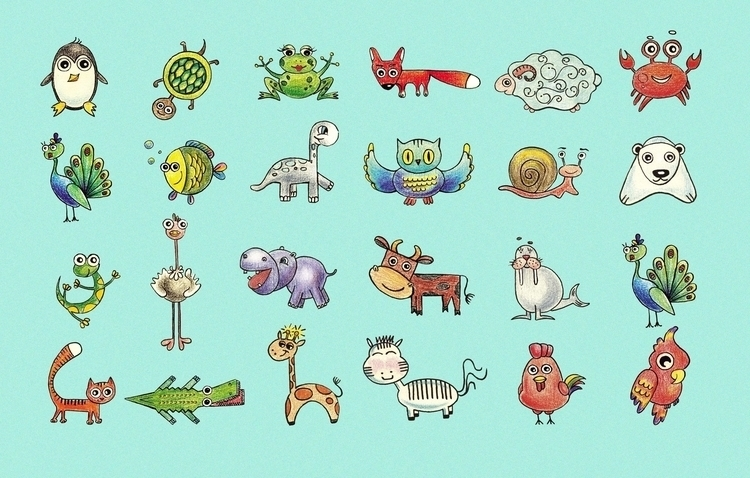 animals book - illustration, painting - usova_julia | ello