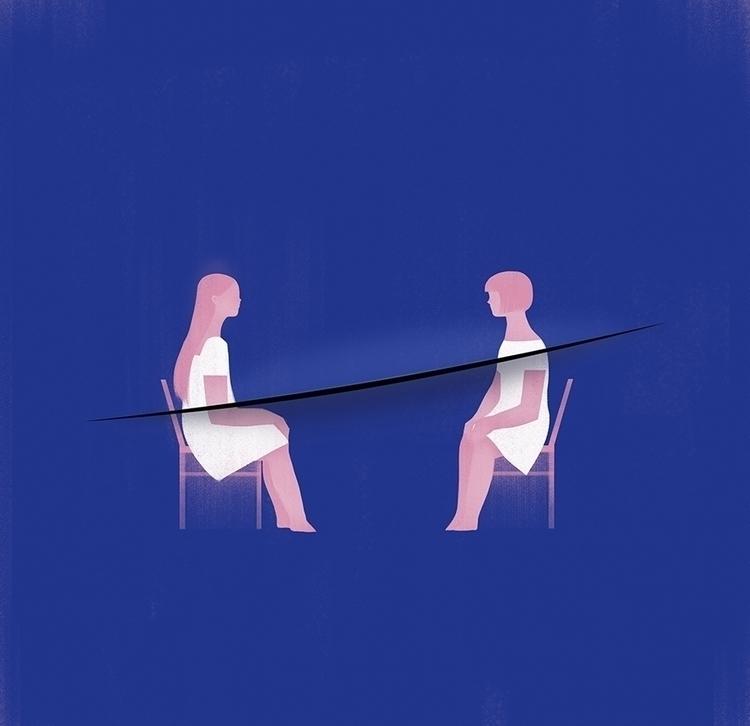 Hurt. illustration friendship H - jasuhu | ello