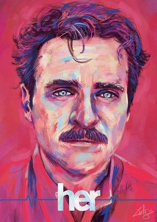portrait Joaquin Phoenix tribut - ladislas-2174 | ello