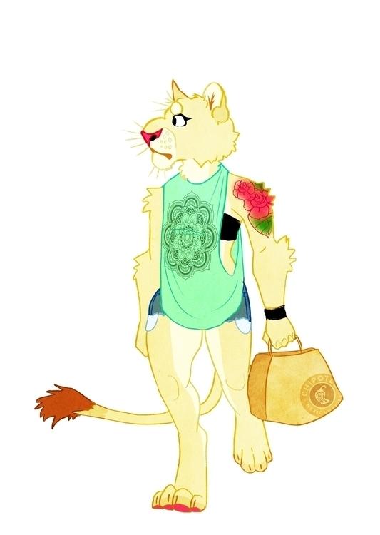 Lioness - lion, lioness, character - samlbrown | ello