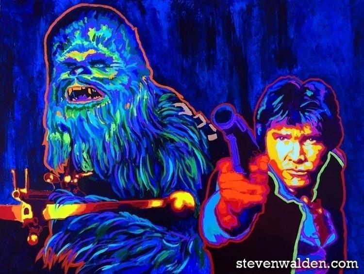 Han Chewie 36 48, acrylic canva - stevenwalden | ello