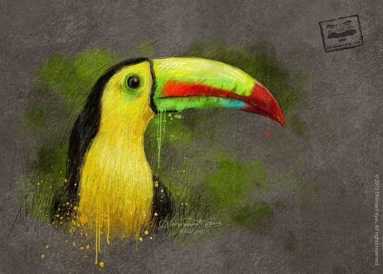 Bird44 - illustration, painting - dhimantvyas | ello