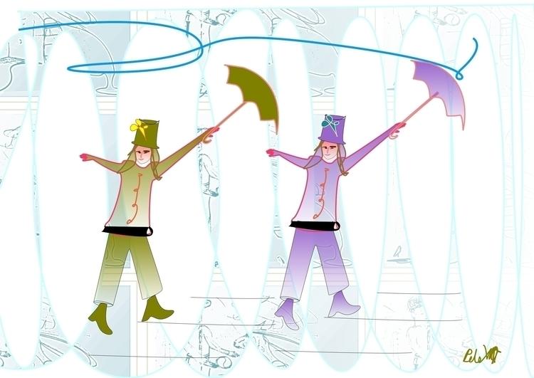 Dancing Girls - illustration, animation - danielspeterv | ello