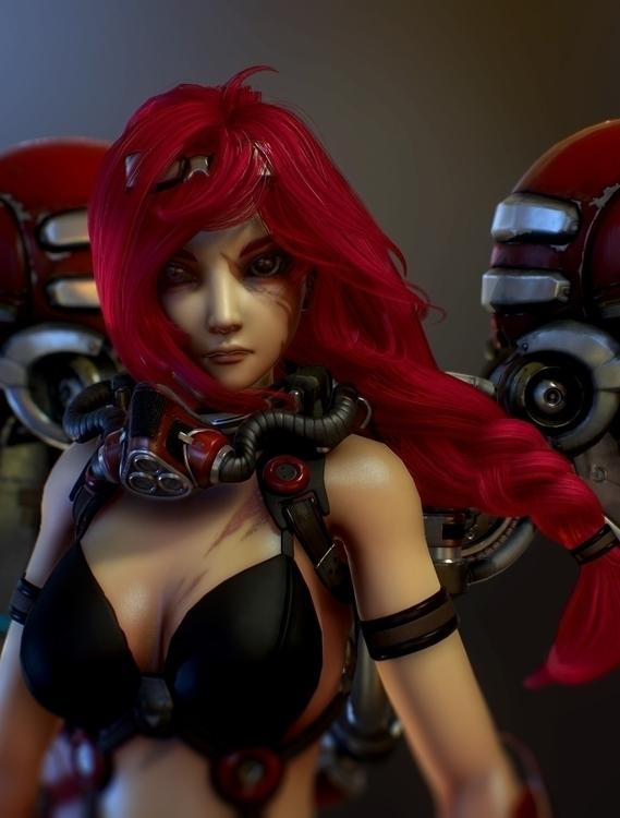 Reaperia Close - characterdesign - thundercloudstudio | ello