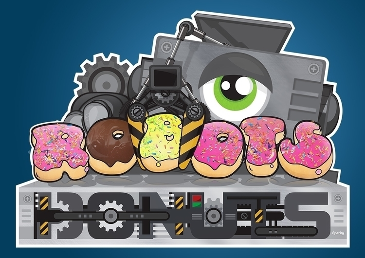 created Robots Donuts illustrat - sparky-2715 | ello
