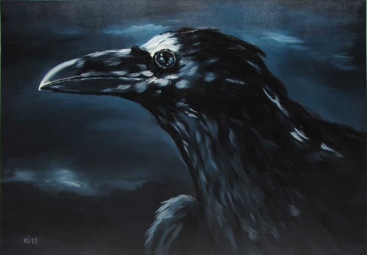 crows - painting, illustration - igorkonovalov | ello