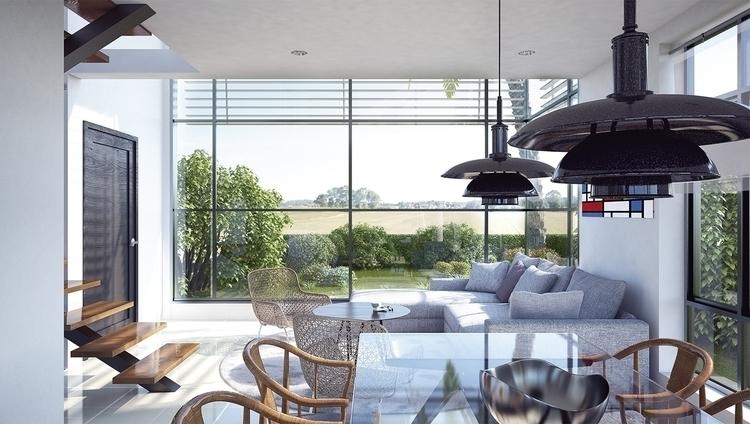 Render interior Sala-comedor - architecture - cristianebratt | ello