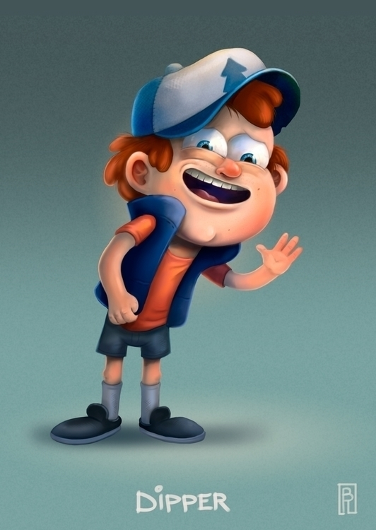 Gravity Falls fanart. Dipper Pi - boris_rogozin | ello