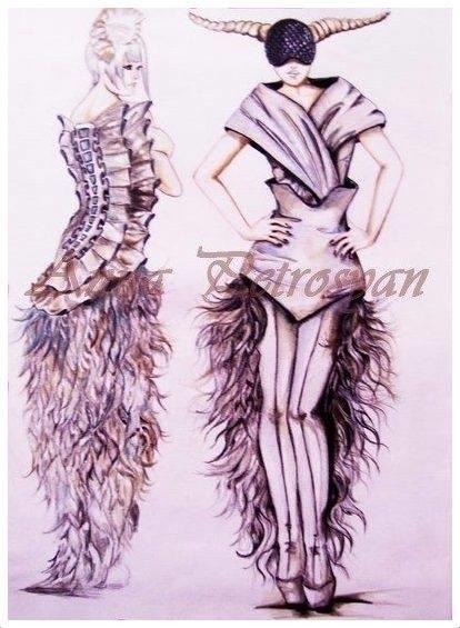 illustration, fashion, sketch - annapetrosyan | ello