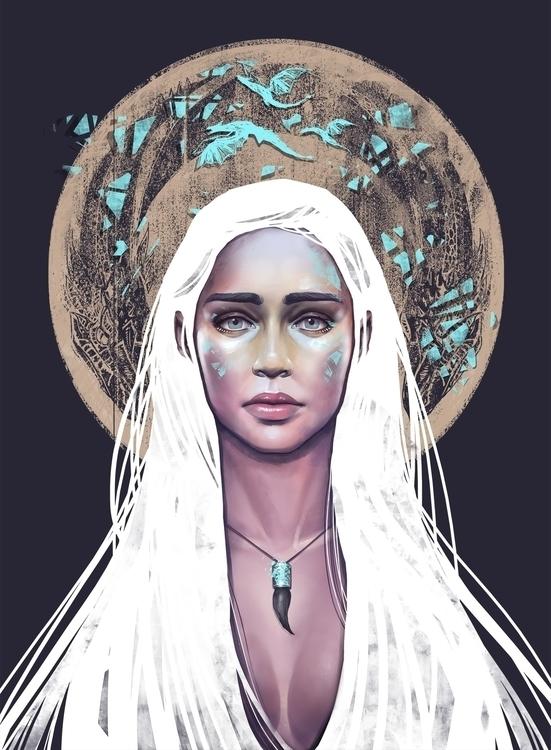 DAENERYS  - gameofthrones, daenerys - davidbelliveau | ello