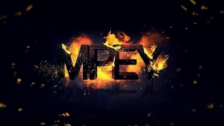 fire sparks - font, 3d - mpey | ello
