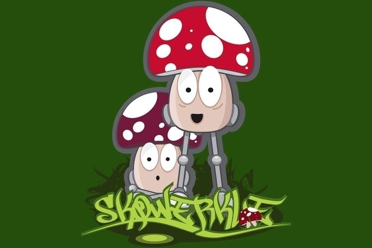 Skqwerkle mushroom/robot charac - sparky-2715 | ello