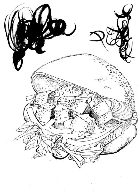 Tofu Sandwich - illustration, foodillustration - reebek | ello